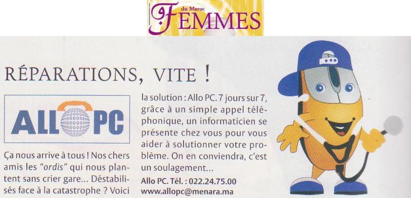 Allopc in Femmes press